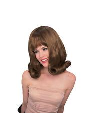 Sixties Glamour Auburn Dark Red Flip Wig for Costume
