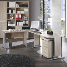 Winkelschreibtisch Büro Office Line Schreibtisch Sonoma Eiche mit Rollcontainer