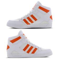 Nuevas zapatillas para hombre Adidas Hardcourt Blanco-Naranja Hi-Top Zapatillas Zapatos de baloncesto