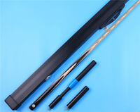 Snooker pool Cue One 1 Piece Handmade Ebony Cues and Aluminium Case Extension