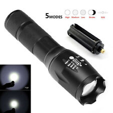 Tactical 15000LM Police Swat T6 Military Zoom LED Flashlight 18650 Torch Hiking
