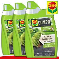 COMPO 3 x 500 ml Rasen Moos-frei Herbistop®