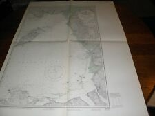 Vintage US Navy Nautical Chart ,ENGLAND-WEST COAST,BURROW HEAD TO LIVERPOOL