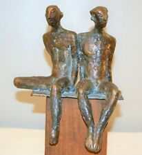 Signed Gail Cassilly (Soliwoda) Saltwater Museum Bronze Sculpture Gay Couple