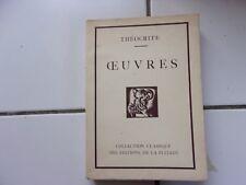 Oeuvres de THEOCRITE ( collection Classique de la Pléiade) 1927 numéroté TBE