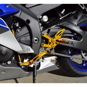 Rearset Rearsets Foot pegs For YAMAHA YZF-R1 2009-2010-2011-2012-2013-2014 gold