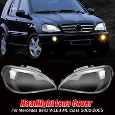 1 Pair Headlight Headlamp Lens Cover For Mercedes Benz W163 ML Class 2002-2005