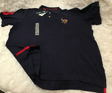 Us Polo Assn. Polo Shirt Short Sleeve Navy and Red Big Logo Men Size Large. NWT