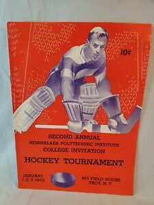 Near Mint 1953 Polytechnic Yale St Patrick's Princeton Hockey Tournament Program