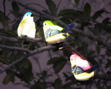 Solar Outdoor Decoration Bird Lights Lawn & Garden with Clip for Branches/Trees