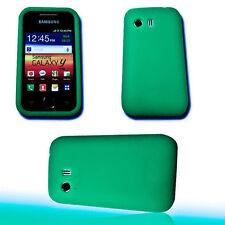 Silikon TPU Handy Cover Grün  für Samsung S5360 Galaxy Y + Displayschutzfolie
