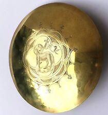 Magnífico gran patena de plata corladura 19ème orf. Capello Morel 16,5cm cáliz