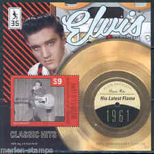 MUSTIQUE 2012 'ELVIS PRESLEY'  HIS LATEST FLAME RECORD SOUVENIR SHEET MINT NH