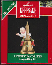 1991 Hallmark Ring a Ding Elf Miniature Ornament NIB NEW