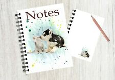 Notebook  with an image of a cute puppy and kitten N0 4 By Starprint G & D