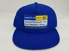 Vintage Goodyear Michelin Lac La Biche Blue Hat Cap Snapback Young An