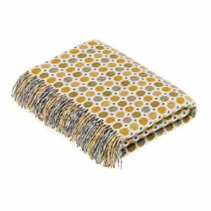 Bronte by Moon Lambswool Milan Gold Throw