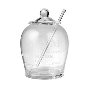 Lene Bjerre Agnes Glass Jam Jar with Lid and Spoon 14cm. Perfect for Jam makers!