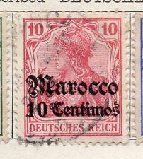 Maroc Allemand 1905 début question fine utilisé optd surcharged 10c. 105691