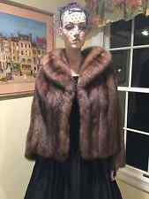 Natural Russian Barguzin Silver Tipped Sable Jacket Fur Coat Sz. 10 12 Med Large