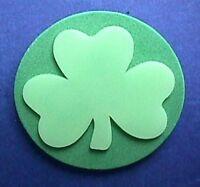 Hallmark PIN St Patrick Vintage SHAMROCK Glow Dark Irish Holiday Brooch