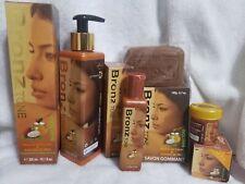 Bronz tone Lightening 300ml Body Lotion, serum,soap,dark spots Remover Set Of 4