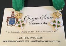 Miniatura Cavaliere Ufficiale Ordine dei Santi Maurizio e Lazzaro in argento 925