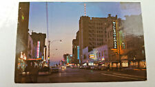 Central Avenue Ave At Night St. Petersburg Florida Wilson Chase Cars Postcard