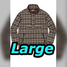 Supreme Nylon Plaid Pullover Tan Large Jacket Box logo