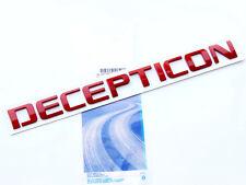 1x Red OEM DECEPTICON Nameplate Emblem Badge GMC Silverado Tahoe Ford dodge fU Y