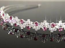 Tiaras y diademas de novia de color principal rosa