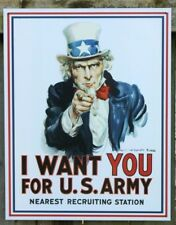 Uncle Sam Tin Metal Sign I Want You US Army Recruit  Military Poster Gift New US