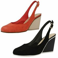 Clarks Wedge High (3-4.5 in.) Suede Shoes for Women
