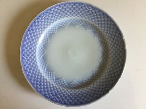 Vintage Bing and Grondahl Sea Shell 10-1/4 inch Dinner Plate Blue with Gold Trim