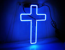 Jesus Cross Real Neon Sign Beer Bar Light Home Decor Hand Made Artwork