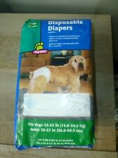 Top Paw Disposable Diapers size Large 35 - 55lbs, 12 in package, new, F/S