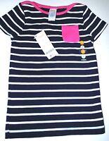 Gymboree Girls' Navy Blue Striped Pocket Short Sleeve Tee Shirt Size 5