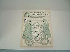 Vintange 1988 Wendys bookworks  big patterns for nutrition and health poster