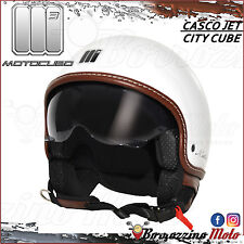 CASCO MOTO SCOOTER JET UNIVERSALE MOTOCUBO CITY CUBE BIANCO TAGLIA M 57-58