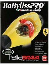 BABFB1 BABYLISS PRO ITALIA BRAVA  DRYER WITH FERRARI DESIGNED ENGINE YELLOW