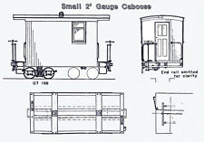 GILPIN TRAM STYLE CABOOSE On2 On3 Model Railroad Wood Craftsman Kit TC7983