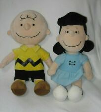 Kohls Cares for Kids Plush Charlie Brown & Lucy Doll Peanuts Stuffed Toys Lot