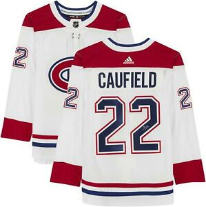 Cole Caufield Montreal Canadiens Autographed White Adidas Authentic Jersey