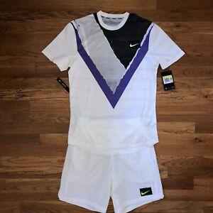 Nike Men's New York Court Challenger Tennis Full Outfit Shirt & Shorts Sz Small