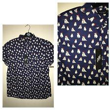 Primark Men's Collared Short Sleeve Regular Casual Shirts & Tops