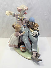Lladro Figurine #5771 The Magic of Laughter, Clown Doing Magic for Children