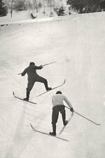 SAVOIE. Skieurs Escaladant Une Pente 1900 old antique vintage print picture