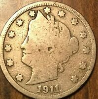 1911 USA 5 CENTS LIBERTY