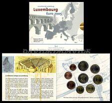SERIE DIVISIONALE UFFICIALE ZECCA 9  MONETE EURO LUSSEMBURGO 2005 _ FDC