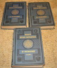1958 HARDBOUND BOOK SET VOL 1 2 3 / MACKEYS REVISED ENCYCLOPEDIA OF FREEMASONRY